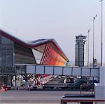 New Terminal Building, Barajas Airport, Madrid. Architects: Rogers Stirk and Harbour Stock Photo - Premium Rights-Managed, Artist: Arcaid, Code: 845-03720422