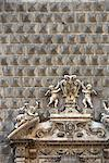 Naples. Palazzo Sanseverino, Chiesa del Gesu Nuovo, rusticated facade and broken pediment, Naples. Stock Photo - Premium Rights-Managed, Artist: Arcaid, Code: 845-03720729
