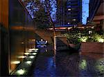 Terrace at night. Architects: Mackay and Partners LLP Stock Photo - Premium Rights-Managed, Artist: Arcaid, Code: 845-03720766