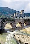 El Camino de Santiago, Molinaseca, Puente de los Peregrinos over the Meruelo river. Stock Photo - Premium Rights-Managed, Artist: Arcaid, Code: 845-03720939