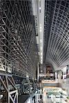 The central concourse inside the futuristic interior of Kyoto railway station, Kyoto, Japan. Architects: Hiroshi Hara Stock Photo - Premium Rights-Managed, Artist: Arcaid, Code: 845-03721031