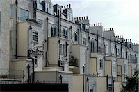 pipework - Back of terrace houses and chimneys, Wells Rise, near Primrose Hill, London, NW1, England Stock Photo - Premium Rights-Managednull, Code: 845-03721228