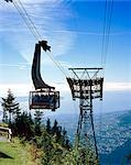 British Columbia, Vancouver, Grouse Mountain Skyride cable-car Stock Photo - Premium Rights-Managed, Artist: Arcaid, Code: 845-03721283