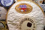 Brie cheese at the Speciality & Fine Food Fair 2008 at Olympia Stock Photo - Premium Rights-Managed, Artist: foodanddrinkphotos, Code: 824-03721728