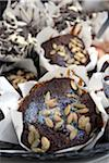 Ginger & Pumpkin Seed Muffin at the Speciality & Fine Food Fair 2008 at Olympia Stock Photo - Premium Rights-Managed, Artist: foodanddrinkphotos, Code: 824-03721752