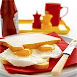 Fried Egg Sandwich Stock Photo - Premium Rights-Managed, Artist: foodanddrinkphotos, Code: 824-03721839