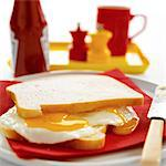 Fried Egg Sandwich Stock Photo - Premium Rights-Managed, Artist: foodanddrinkphotos, Code: 824-03721840
