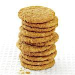 Stack of biscuits Stock Photo - Premium Rights-Managed, Artist: foodanddrinkphotos, Code: 824-03722007