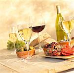 Tapas and Wine Stock Photo - Premium Rights-Managed, Artist: foodanddrinkphotos, Code: 824-03722367