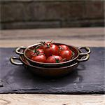 Tomatoes in a Copper Bowl Stock Photo - Premium Rights-Managed, Artist: foodanddrinkphotos, Code: 824-03722592