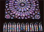 Rose Window of the Notre Dame Cathedral. Stock Photo - Premium Rights-Managed, Artist: IIC, Code: 832-03724606