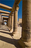 Looking along West Colonnade to Temple of Isis Stock Photo - Premium Rights-Managednull, Code: 832-03725021