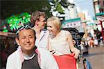 Young Couple Sitting In Rickshaw In Asakusa, Japan Stock Photo - Premium Rights-Managed, Artist: Aflo Relax, Code: 859-03730835