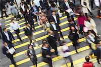 Office workers crossing Queen's Road Central, Hong Kong, China Stock Photo - Premium Rights-Managednull, Code: 862-03731029