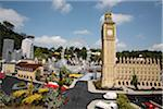 England, Berkshire, Windsor. Details of London at Legoland showing Big Ben, the Houses of Parliament and Canary Wharf. Stock Photo - Premium Rights-Managed, Artist: AWL Images, Code: 862-03731240
