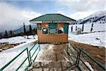 The ticket office at the gondola mid-station at Gulmarg, Kashmir, India Stock Photo - Premium Rights-Managed, Artist: AWL Images, Code: 862-03731279