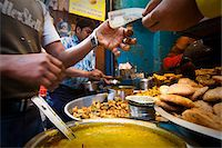 food stalls - A food stall in Old Delhi, India Stock Photo - Premium Rights-Managednull, Code: 862-03731322