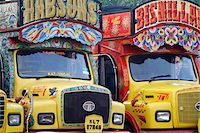 India, South India, Kerala. Painted trucks parked in Cochin. Stock Photo - Premium Rights-Managednull, Code: 862-03731376
