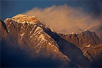 Nepal, Everest Region, Khumbu Valley. Mount Everest at sunset. Stock Photo - Premium Rights-Managednull, Code: 862-03731956