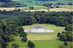 Northern Ireland, Fermanagh, Enniskillen. Aerial view of Castle Coole, a late C18th neo-classical Georgian mansion. Stock Photo - Premium Rights-Managed, Artist: AWL Images, Code: 862-03731995