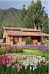 Peru, One of the attractive villas at Urubamba Villas, set in beautiful gardens a short distance from Urubamba. Stock Photo - Premium Rights-Managed, Artist: AWL Images, Code: 862-03732048