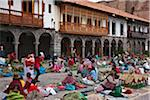 Peru, Santuranticuy market is held in the main square of Cusco once a year on Christmas eve. Items for sale are related to Christmas. Stock Photo - Premium Rights-Managed, Artist: AWL Images, Code: 862-03732078