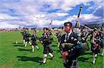 Pipe band at a Highland Gathering, Invergordon, Ross & Cromarty, Scotland Stock Photo - Premium Rights-Managed, Artist: AWL Images, Code: 862-03732259