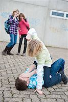 student fighting - Teenagers Fighting Stock Photo - Premium Royalty-Freenull, Code: 600-03734615