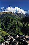 Annapurna South and Ghandruk Village, Gandaki Zone, Nepal Stock Photo - Premium Rights-Managed, Artist: Jochen Schlenker, Code: 700-03734645