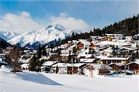 small town snow - Austria, The Tyrol, Seefeld, Stock Photo - Premium Rights-Managednull, Code: 862-03736343