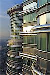 Malaysia, Kuala Lumpur, Kampong Dollah, The offices of the Petronas Towers viewed from the skybridge, designed Cesar Pelli. Stock Photo - Premium Rights-Managed, Artist: AWL Images, Code: 862-03736935
