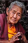 Portrait of Tibetan Woman, Boudhanath, Bagmati Zone, Madhyamanchal, Nepal Stock Photo - Premium Rights-Managed, Artist: Jochen Schlenker, Code: 700-03737511