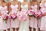 Bride and Bridesmaids Holding Bouquets Stock Photo - Premium Rights-Managed, Artist: Ikonica, Code: 700-03737626