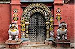 Lion Gate, Taleju Temple, Durbar Square, Kathmandu, Bagmati, Madhyamanchal, Nepal Stock Photo - Premium Rights-Managed, Artist: Jochen Schlenker, Code: 700-03737768