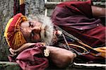 Sadhu, Pashupatinath Temple, Kathmandu, Bagmati, Madhyamanchal, Nepal Stock Photo - Premium Rights-Managed, Artist: Jochen Schlenker, Code: 700-03737824