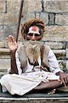 Sadhu, Pashupatinath Temple, Kathmandu, Bagmati, Madhyamanchal, Nepal Stock Photo - Premium Rights-Managed, Artist: Jochen Schlenker, Code: 700-03737825