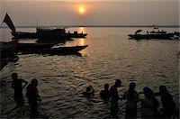 Ritual Bathing, River Ganges, Varanasi, Varanasi District, Uttar Pradesh, India Stock Photo - Premium Rights-Managednull, Code: 700-03737873