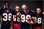 Aggressive Football Players Stock Photo - Premium Rights-Managed, Artist: Brian Kuhlmann, Code: 700-03738355