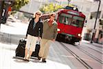 Couple with Luggage at Train Station, San Diego, California Stock Photo - Premium Rights-Managed, Artist: Ty Milford, Code: 700-03738498