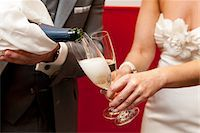 special moment - Bride and Groom Pouring Champagne Stock Photo - Premium Rights-Managednull, Code: 700-03738507