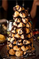 Close-up of Pastry Tower Stock Photo - Premium Royalty-Freenull, Code: 600-03739029