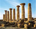 Temple of Hercules, Valley of the Temples, Agrigento, Sicily, Italy Stock Photo - Premium Rights-Managed, Artist: Siephoto, Code: 700-03739205