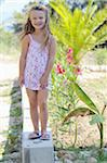 Girl Wearing Flip Flops and Sundress Stock Photo - Premium Rights-Managed, Artist: Pascal Albandopulos, Code: 700-03739266
