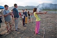 preteen thong - A 12 year old girl stands and shoots a .22 pistol in her pajamas and flip-flops at the edge of the Yukon River during a raft float trip, Yukon-Charley Rivers National Preserve  Interior Alaska, Summer Stock Photo - Premium Rights-Managednull, Code: 854-03739746