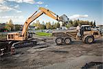 Site preparation for Alaska Housing Finance Corporation's Lumen Park housing project in South Anchorage, Southcentral Alaska, Summer Stock Photo - Premium Rights-Managed, Artist: AlaskaStock, Code: 854-03739877