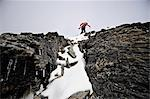 Backpacker climbs the West Ridge of Mt. Chamberlin in the Brooks Range, ANWR, Arctic Alaska, Summer Stock Photo - Premium Rights-Managed, Artist: AlaskaStock, Code: 854-03740053