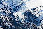 Aerial view of lateral and terminal moraines surrounding Eagle Glacier in the Chugach Mountains, Chugach State Park, Southcentral Alaska, Spring Stock Photo - Premium Rights-Managed, Artist: AlaskaStock, Code: 854-03740291