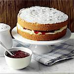 Victoria Sponge cake Stock Photo - Premium Rights-Managed, Artist: foodanddrinkphotos, Code: 824-03744601