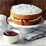 Victoria Sponge cake Stock Photo - Premium Rights-Managed, Artist: foodanddrinkphotos, Code: 824-03744602