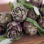 Raw Artichokes Stock Photo - Premium Rights-Managed, Artist: foodanddrinkphotos, Code: 824-03744731